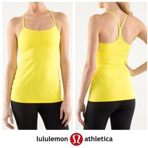 LULULEMON Yellow Power Tank Top